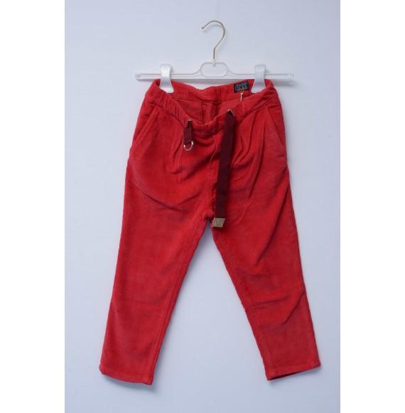 SP1 - Pantalone in velluto con nastro