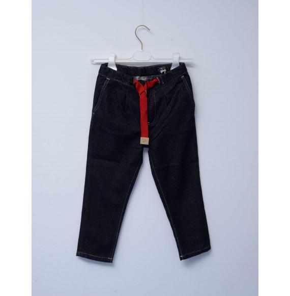 SP1 - Pantalone gros grain con nastro