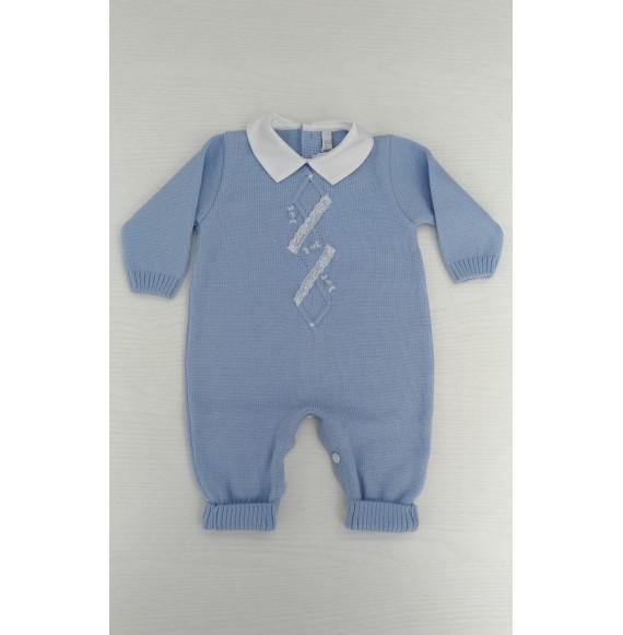 Primodì Bebé - Tutina in lana rombi
