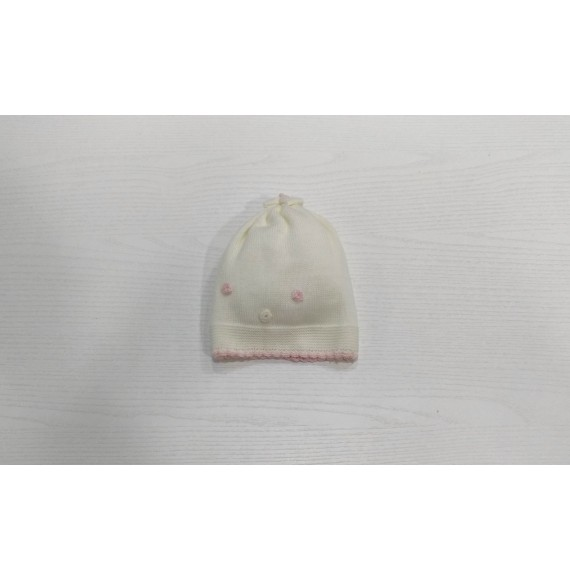 Primodì Bebé - Cappellino iin lana con fiorellini