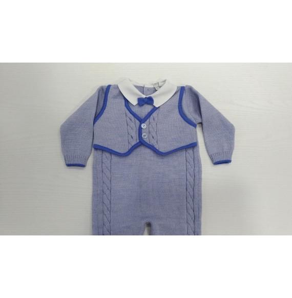 Primodì Bebé - Tutina in lana con gilet