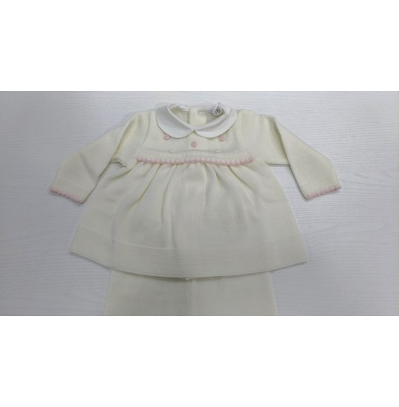 Primodì Bebé - Coprifasce in lana con fiorellini