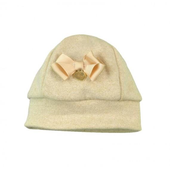 PIGNATELLI - Cappellino in felpa lurex con fiocco