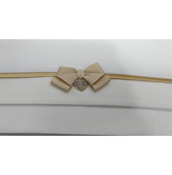 PIGNATELLI - Lenzuolino carrozzino 3 pezzi con fiocco dorato