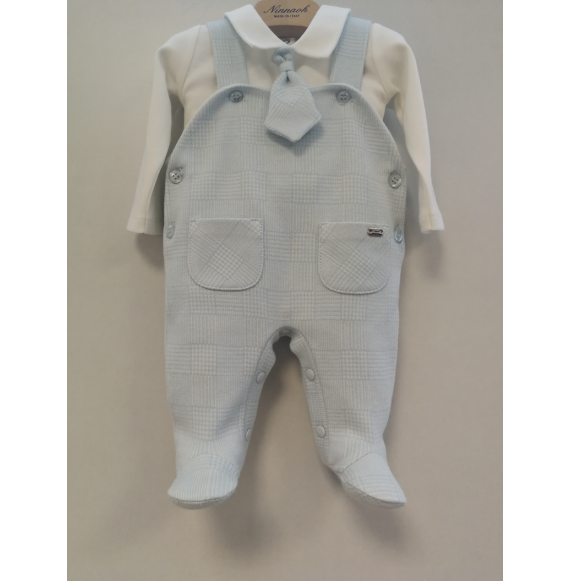 NINNAOH - Tutina salopette con body e cravattina