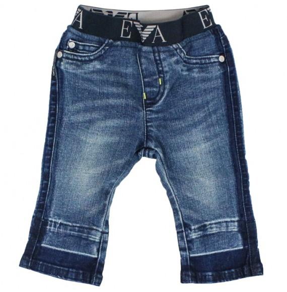 ARMANI - Jeans con elastico logato