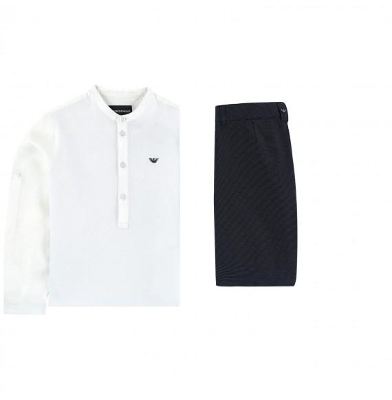 ARMANI - Set bermuda micro pois e camicia coreana