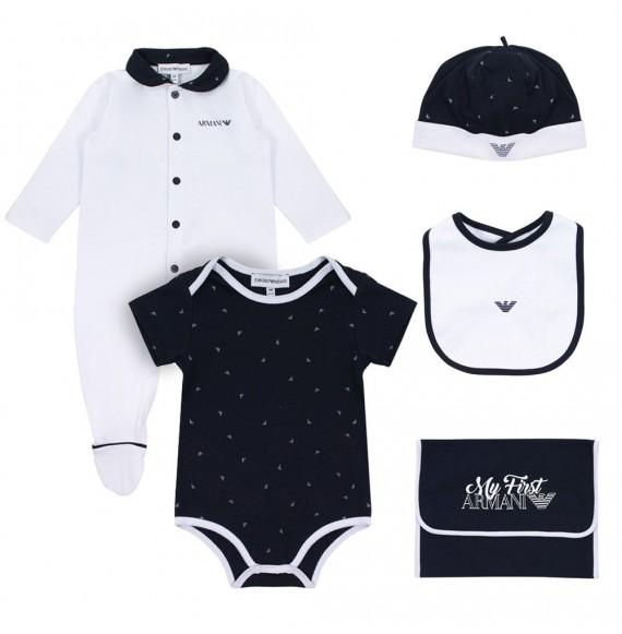 super popolare famoso marchio di stilisti professionale ARMANI - Set tutina,body,bavetta,cappello e sacco cambio