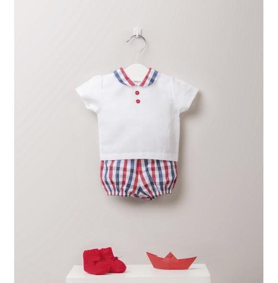 JULIANA - Completo camicia e bermuda a quadri