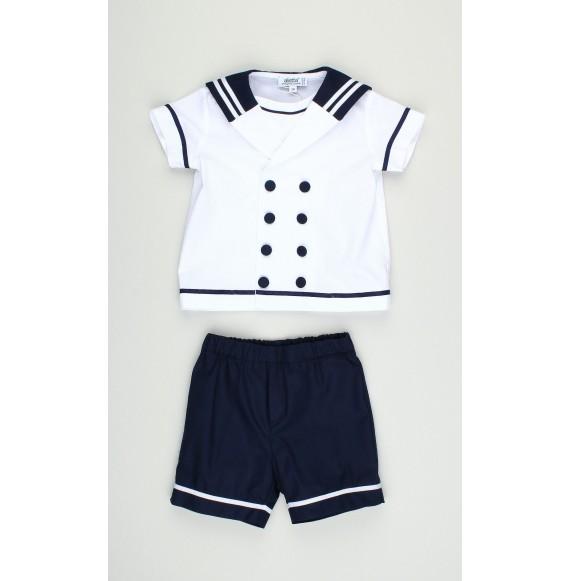 ALETTA - Completo bermuda e camicia marinara