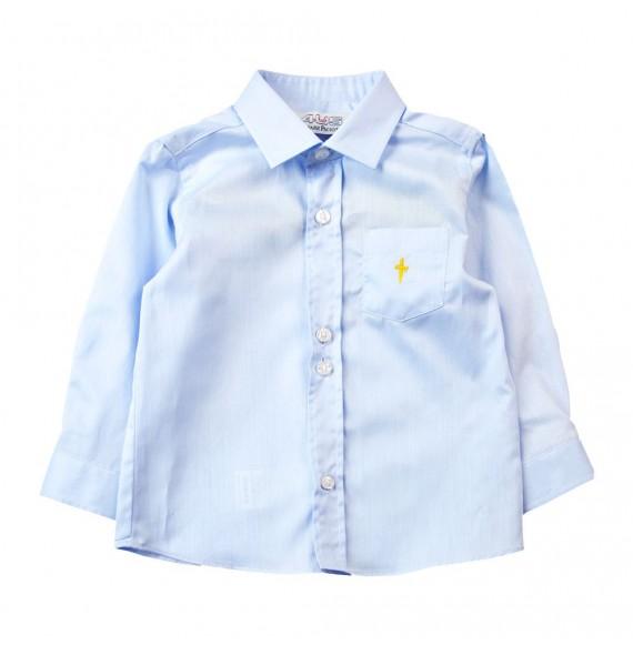 PACIOTTI - Camicia con stampa gialla sul retro