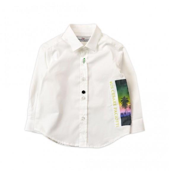 PACIOTTI - Camicia con stampa palme