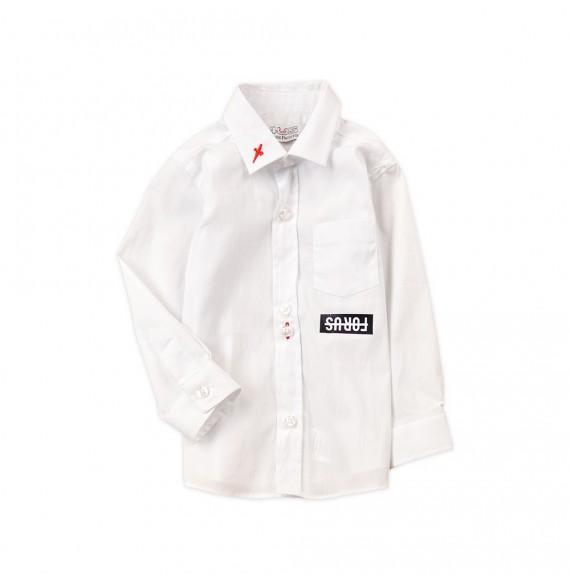 PACIOTTI - Camicia con taschino e stampa FOR US