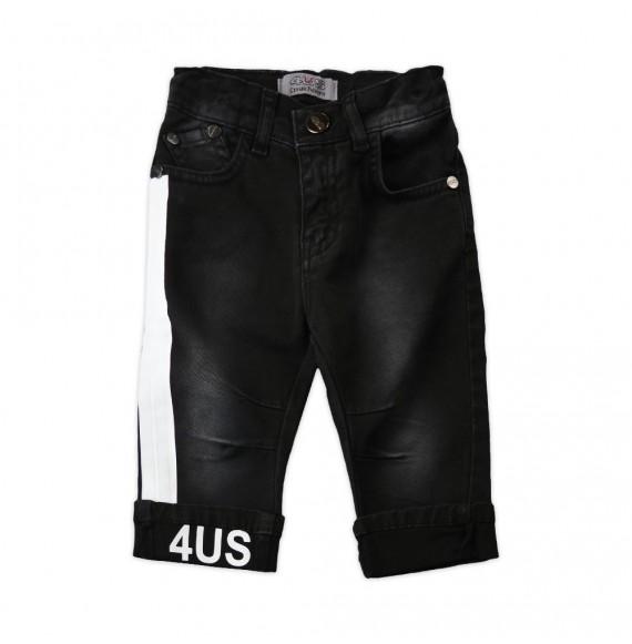 PACIOTTI - Pantalone denim con stampa