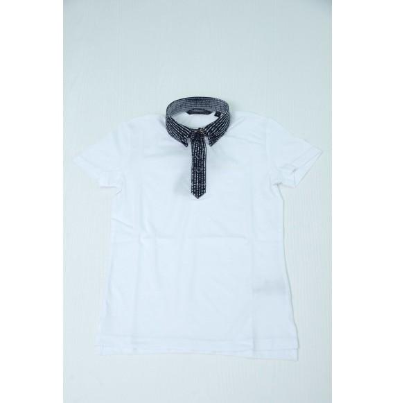 Antony Morato - Polo mezza manica con collo camicia fantasia