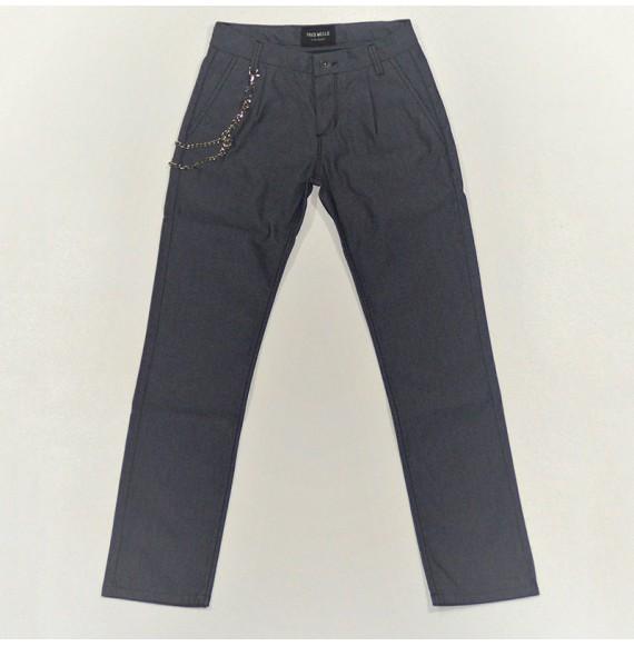 Pantalone gabardine con catena