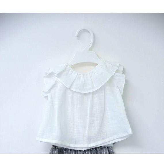 FINA EJERIQUE - Blusa in cotone con rouches