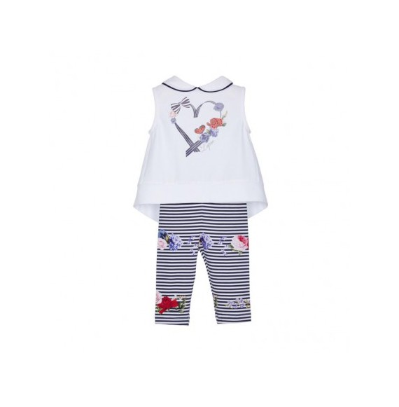 Lapin House - Set maxi canotta e leggings fantasia righe
