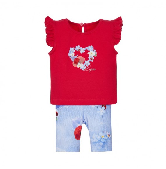 Lapin House - Set t-shirt e leggings corto fantasia
