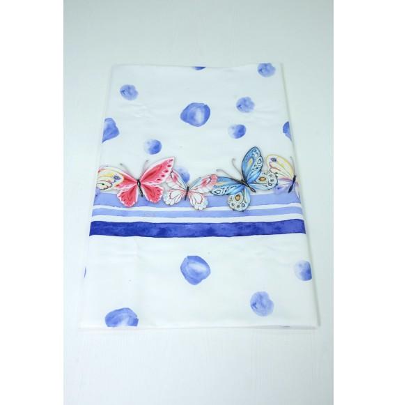 LòLò - Copertina in raso con stampa farfalle