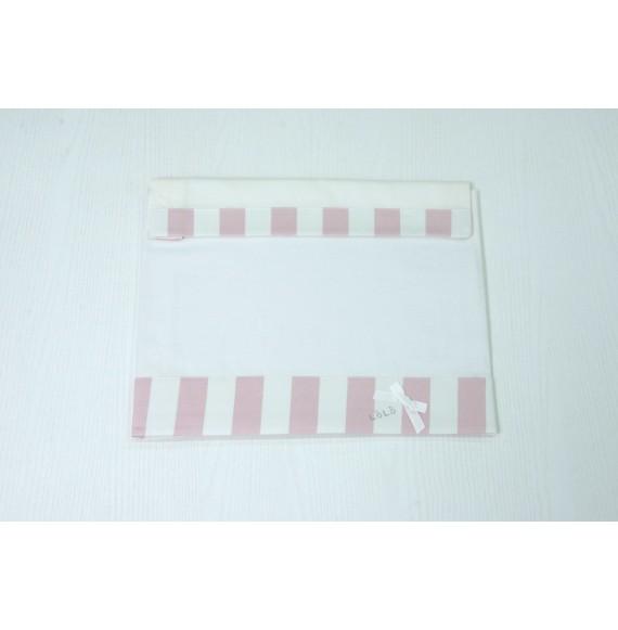 LòLò - Lenzuolino in cotone 3 pezzi con fascia righe