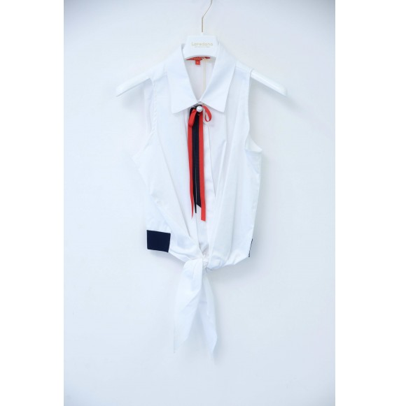Loredana - Camicia giro manica con spilla