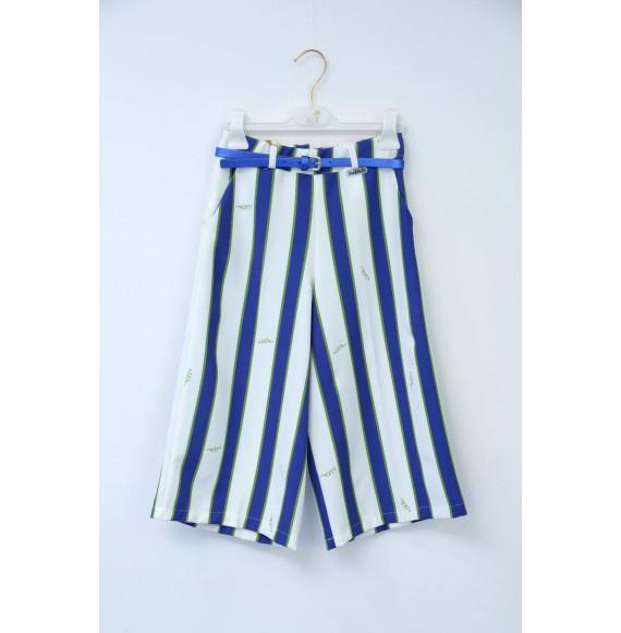 Nolita - Pantalone giappo righe con cinturina in ecopelle