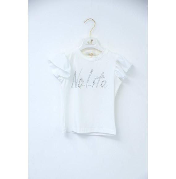 Nolita -T-shirt con strass e volant