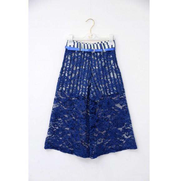 Nolita - Pantalone giappo righe e pizzo