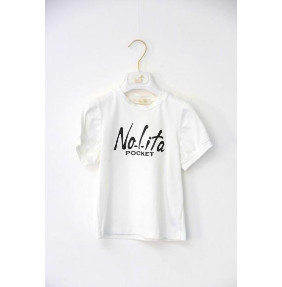 Nolita -T-shirt con stampa glitter