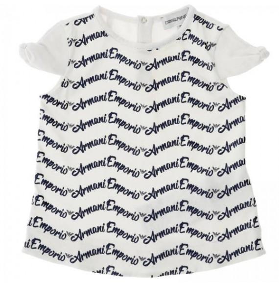 ARMANI - T-shirt girocollo con stampa all over