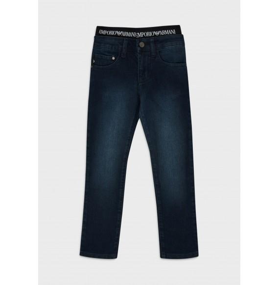 ARMANI - Jeans stretch con elastico logato