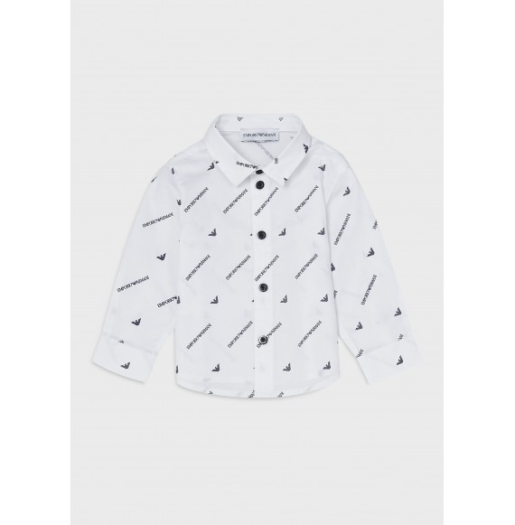 ARMANI - Camicia con stampa logata