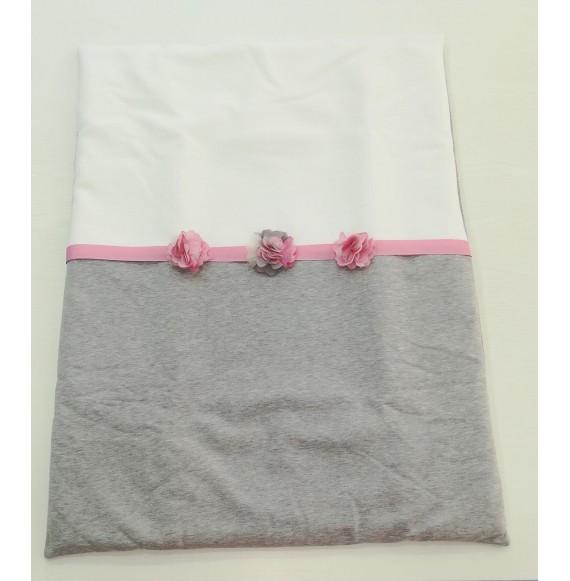 NINNAOH - Copertina sacco in felpa con fiori rimovibili