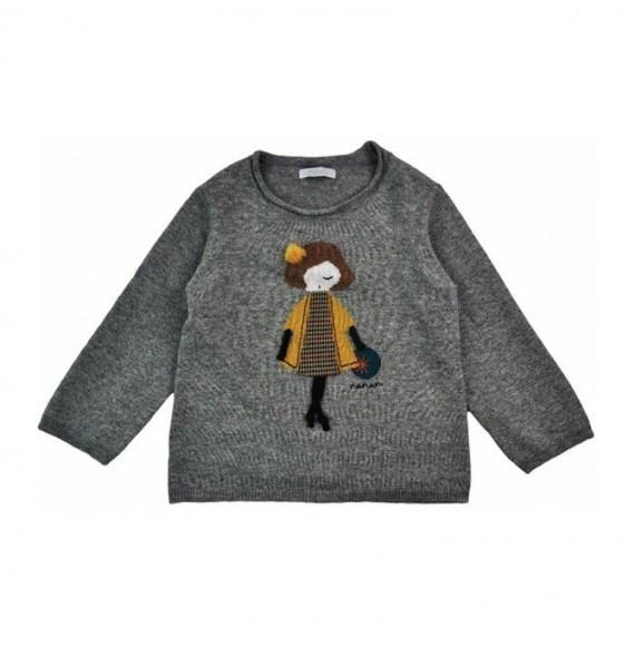 NANAN - Pullover tricot con bambolina