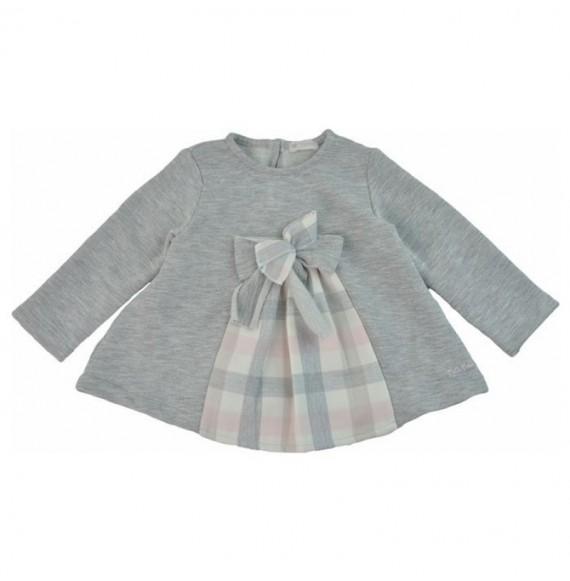 NANAN - Set blusa in felpa quadri con pantalone