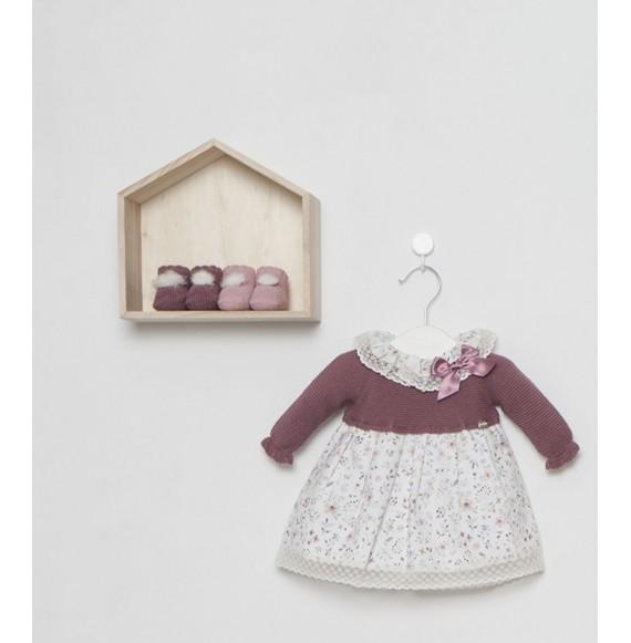 Juliana - Vestina in maglia e tessuto floreale