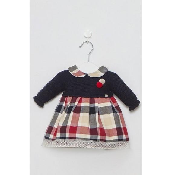 Juliana - Vestina in maglia e tessuto quadri