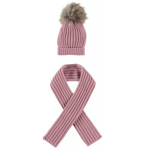 Juliana - Set cappello con pon pon e sciarpa