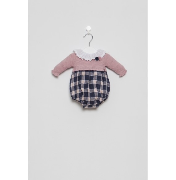 Juliana - Pagliaccetto in maglia e tessuto quadri