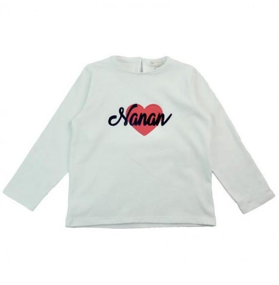 NANAN - T-shirt manica lunga con cuore