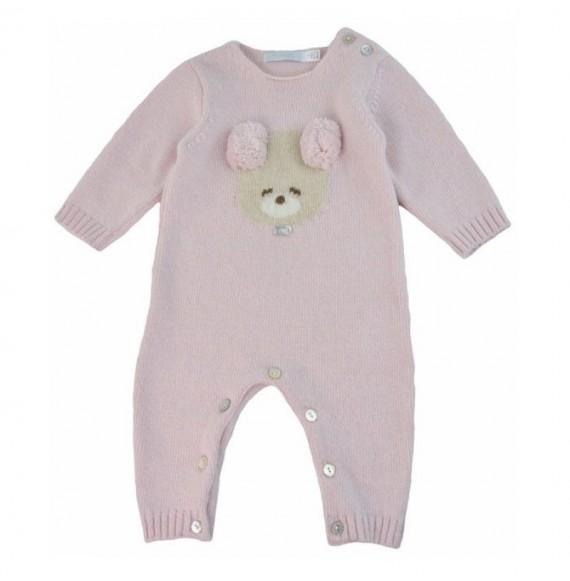 NANAN - Tutina tricot con orsetto e pon pon