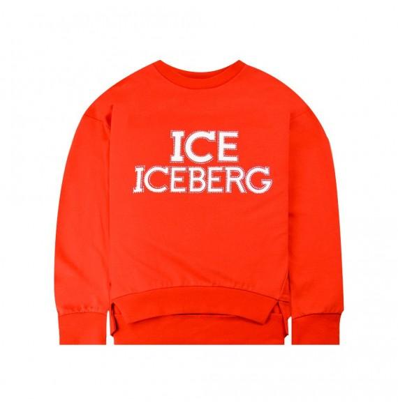 Iceberg - Felpa girocollo con stampa e Swarovski