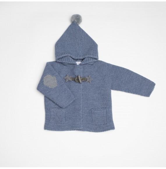 Fina Ejerique - Giacca in lana con cappuccio e alamari