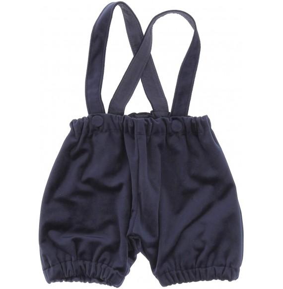 Aletta - Set salopette in velluto con camicia body fantasia