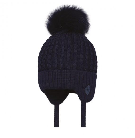BARBARAS - Cappello in lana con pon pon in pelliccia