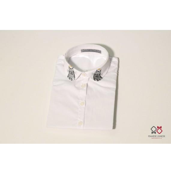 Camicia con collo stampato