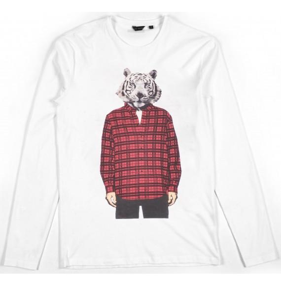 ANTONY MORATO - T-shirt manica lunga con stampa tigre