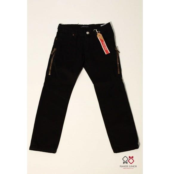 Pantalone jeansato con zip laterali