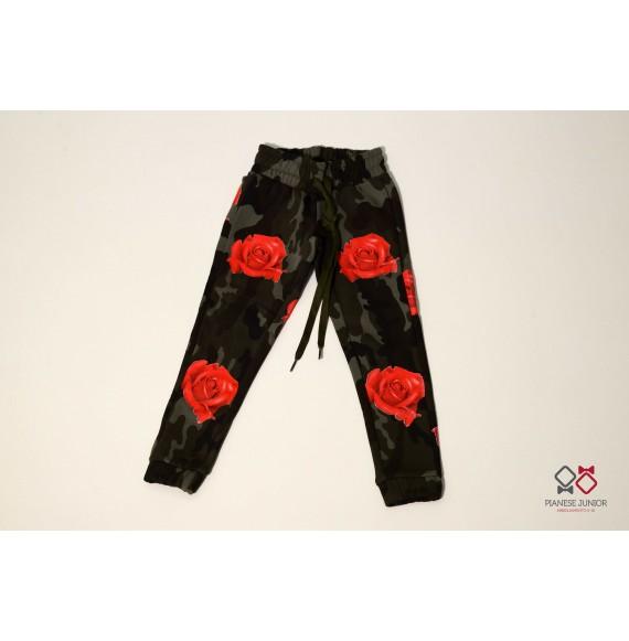 Pantalone in felpa mimetico